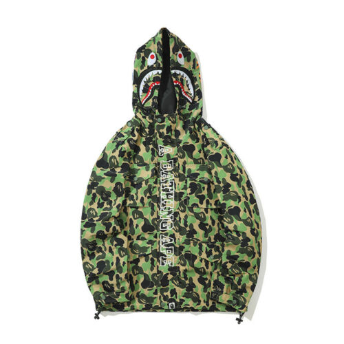 JAPAN Bape A Bathing Ape Men/'s Shark Head Jacket Sweats HOODIE BAPE Sweater Coat