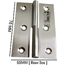 "Lift Off Left//Right Handed Lid Door 2/""//4/"" Steel Small Slip Joint Flag Hinge"