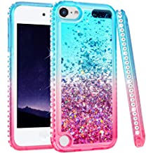 for iPod Touch 5//6//7 Case with 2 Pack Glass Screen Protector Phone Case for Men Women Girls Clear Soft TPU with Protective Bumper Cover Case for iPod 5th//6th//7th Generation Unicorn