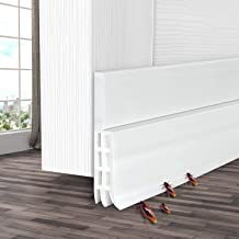 Camel Home Weather Stripping Rubber Under Door Bottom for Interior Doors Seal Strip Insulation for Weatherproof 2 W X 39 L Self Adhesive Door Sweep Draft Stopper 2 W X 39 L Soundproof Black